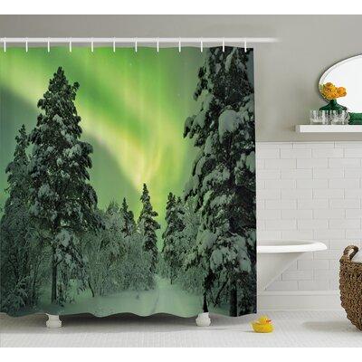 "Dusk Sky Twilight Shower Curtain Size: 69"" H x 70"" W"
