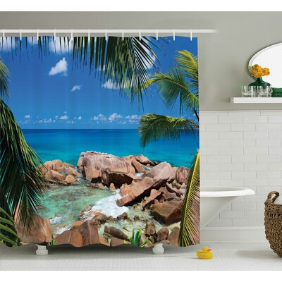 "Clovis Rocky Coast Decor Shower Curtain Size: 69"" H x 75"" W"