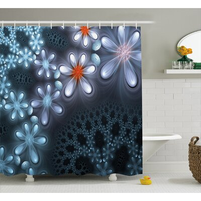 "Futuristic Ornate Shower Curtain Size: 69"" H x 75"" W"