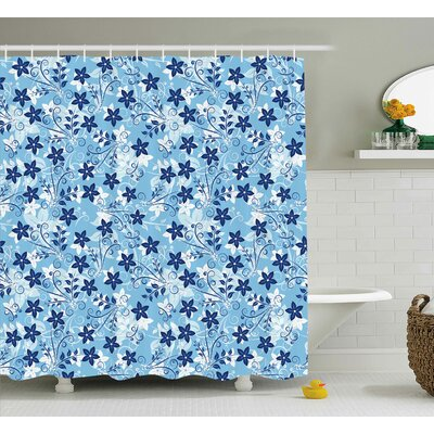 "Wellman Flowers Floral Decor Shower Curtain Size: 69"" H x 70"" W"