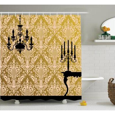 """Chandelier Shower Curtain Size: 69"""" H x 84"""" W"""