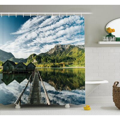 "Clouds On Wild Valley Decor Shower Curtain Size: 69"" H x 70"" W"