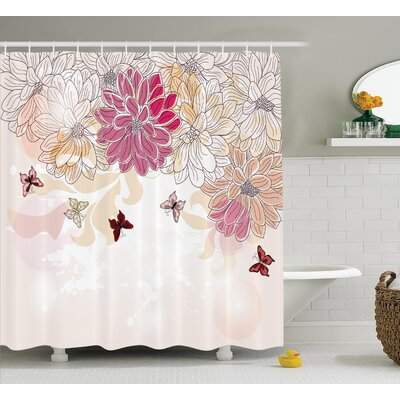 """Baby Petals Spring Decor Shower Curtain Size: 69"""" H x 70"""" W"""