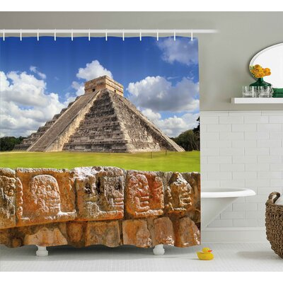 """Ancient Shower Curtain Size: 69"""" H x 75"""" W"""