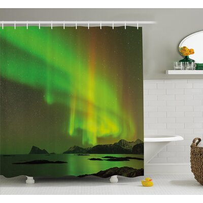 """Universe Sky Shower Curtain Size: 69"""" H x 70"""" W"""