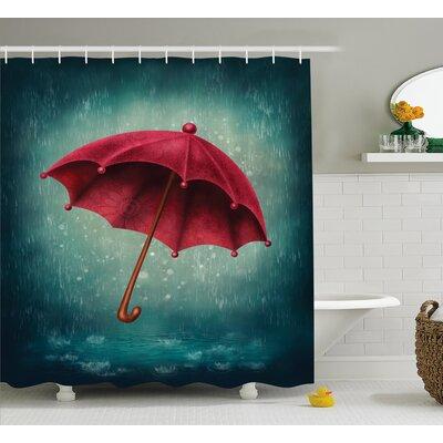"Umbrella Decor Shower Curtain Size: 69"" H x 70"" W"