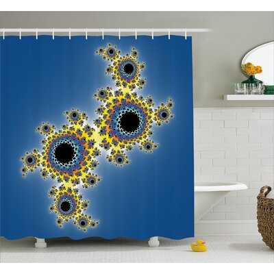 """Rotary Lined Shower Curtain Size: 69"""" H x 75"""" W"""