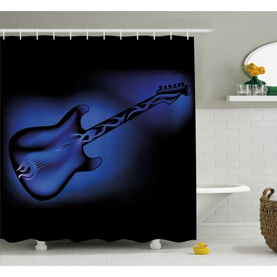 """Electric Guitar Shower Curtain Size: 69"""" H x 70"""" W"""