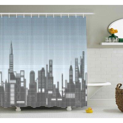 """Skyline Shower Curtain Size: 69"""" H x 70"""" W"""