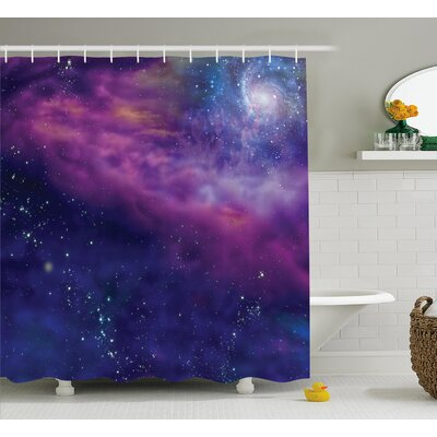 """Star Clusters Decor Shower Curtain Size: 69"""" H x 70"""" W"""