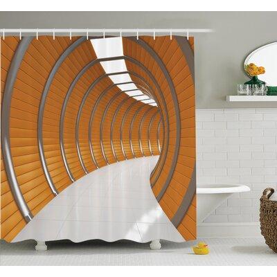 "Tunnel Decor Shower Curtain Size: 69"" H x 70"" W"