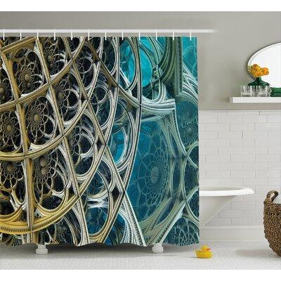 "Arabesque Vintage Shower Curtain Size: 69"" H x 84"" W"