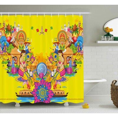 """Fan Cooler Modern Decor Shower Curtain Size: 69"""" H x 70"""" W"""