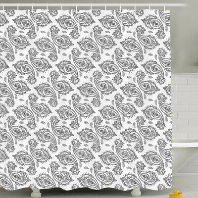 "Twisted Teardrop Decor Shower Curtain Size: 69"" H x 84"" W"
