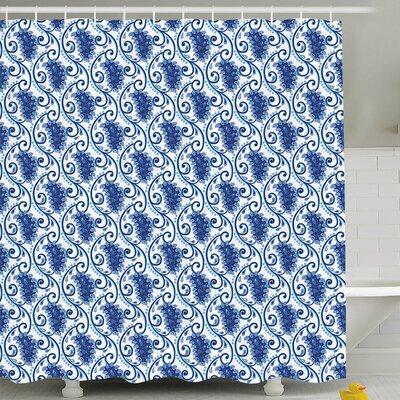 "Brecht Decor Shower Curtain Size: 69"" H x 70"" W"
