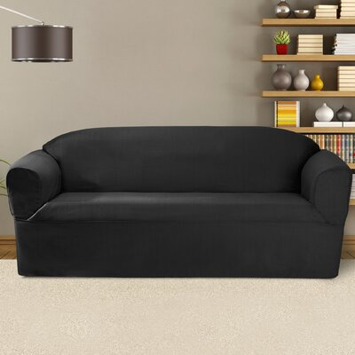 Bayleigh Box Cushion Sofa Slipcover Color: Charcoal
