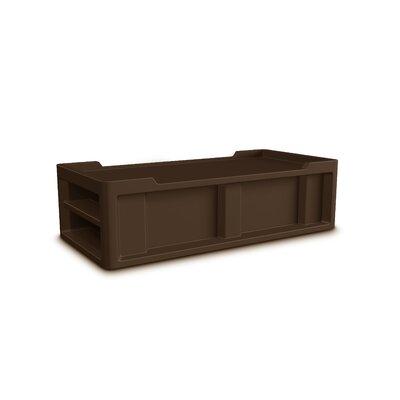 Endurance Extra-Long twin Storage Platform Bed Color: Brown