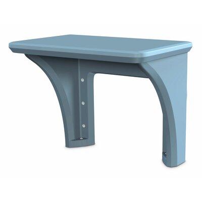 Endurance Polyethylene Shelving Unit Desk Finish: Blue/Gray