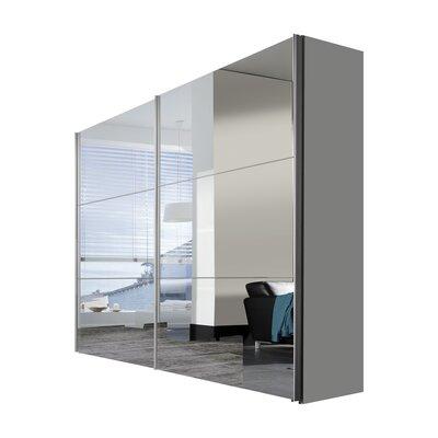 Express Möbel Schwebetürenschrank Solutions Bianco, 216 cm H x 250 cm B x 68 cm T