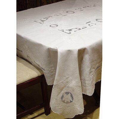 "Penelope Floral Tablecloth & Napkin Set Size: 68"" round"
