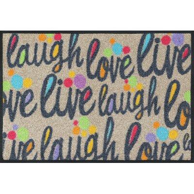 Wash+dry Fußmatte Live and laugh