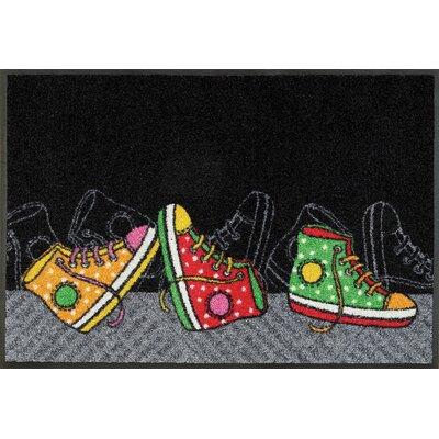 Wash+dry Fußmatte Happy Sneakers