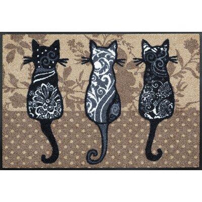 Wash+dry Fußmatte Katzenbande