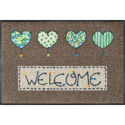 Wash+dry Fußmatte Welcome Hearts