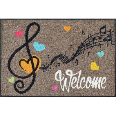 Wash+dry Fußmatte Welcome Music