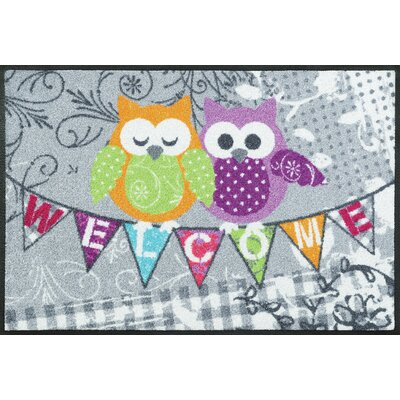 Wash+dry Fußmatte Welcome Owls