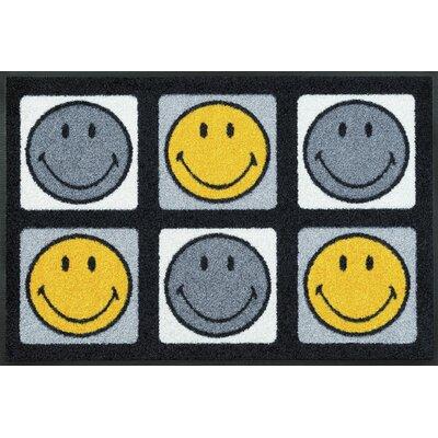 Wash+dry Fußmatte Smiley 6 Smileys