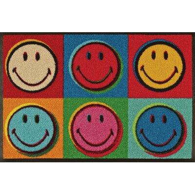 Wash+dry Fußmatte Smiley Design