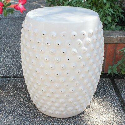 Hardwick Drum Ceramic Garden Stool Finish: Antique White Glaze