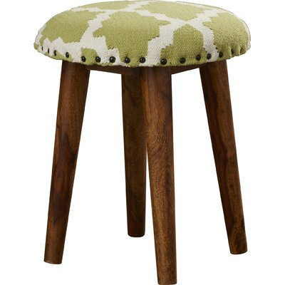 Rochon Cotton Upholstered Vanity Stool