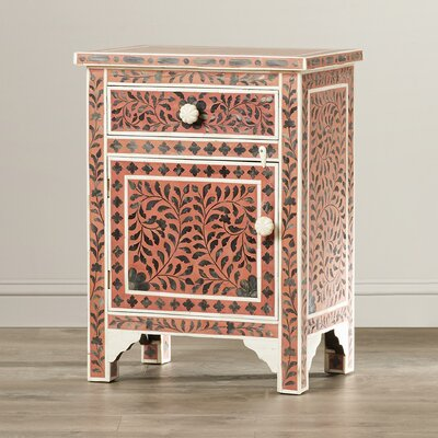 Tassiltante Kayla 1 Drawer and 1 Door Chairside Accent Cabinet