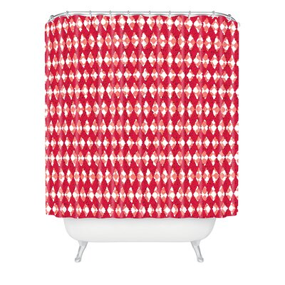 Oosterhout Holiday Shower Curtain Color: Red