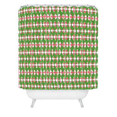 Oosterhout Holiday Shower Curtain Color: Rose