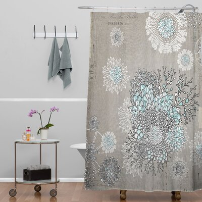 Holley French Blue Extra Long Shower Curtain