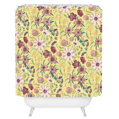 Igourdane Canary Floral Shower Curtain