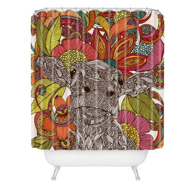 Deepak Arabella And The Flowers Extra Long Shower Curtain