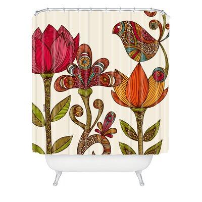 Mellott The Garden Extra Long Shower Curtain