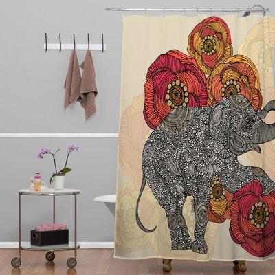 Mellott Rosebud Extra Long Shower Curtain