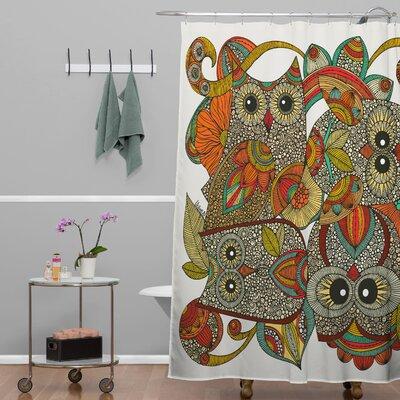 Mellott 4 Owls Shower Curtain