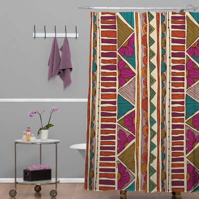 Deepak Ethnic Stripes Shower Curtain