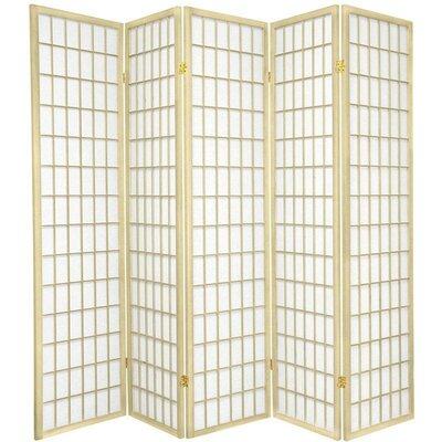 Leiva Room Divider Color: Ivory, Number of Panels: 5