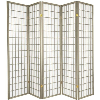 Leiva Room Divider Color: Gray, Number of Panels: 5