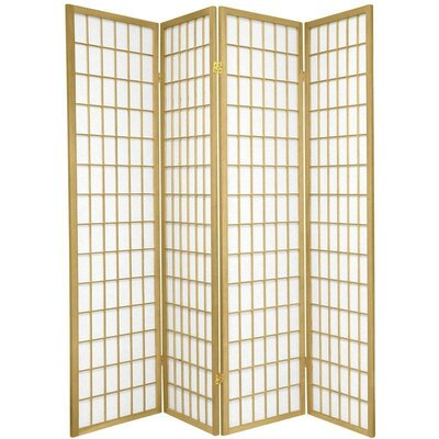 Leiva Room Divider Color: Gold, Number of Panels: 4