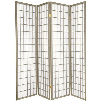 Leiva Room Divider Color: Gray, Number of Panels: 4