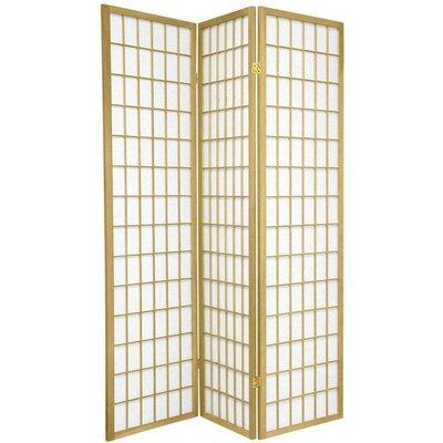 Leiva Room Divider Color: Gold, Number of Panels: 3