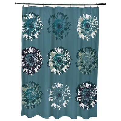 Willa Gypsy Floral 2 Print Shower Curtain Color: Teal
